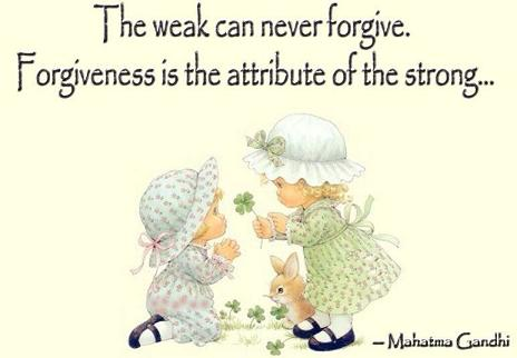 Những người vĩ đại luôn biết cách tha thứ